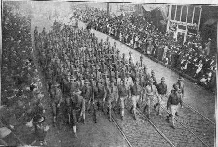 world war 1 soldiers marching. Troops marching W W I